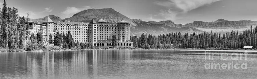 Chateau In Paradise Panorama Black And White by Adam Jewell