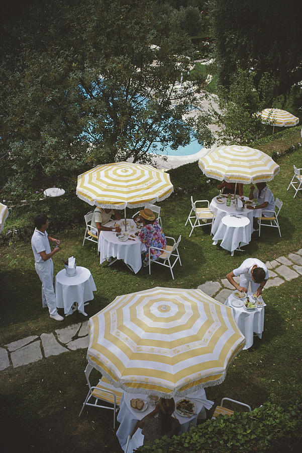 Chateau Saint-martin Photograph by Slim Aarons