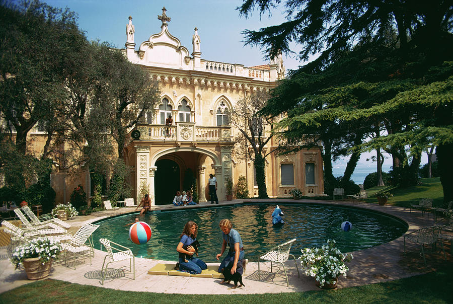 Chateau St. Jean Photograph by Slim Aarons