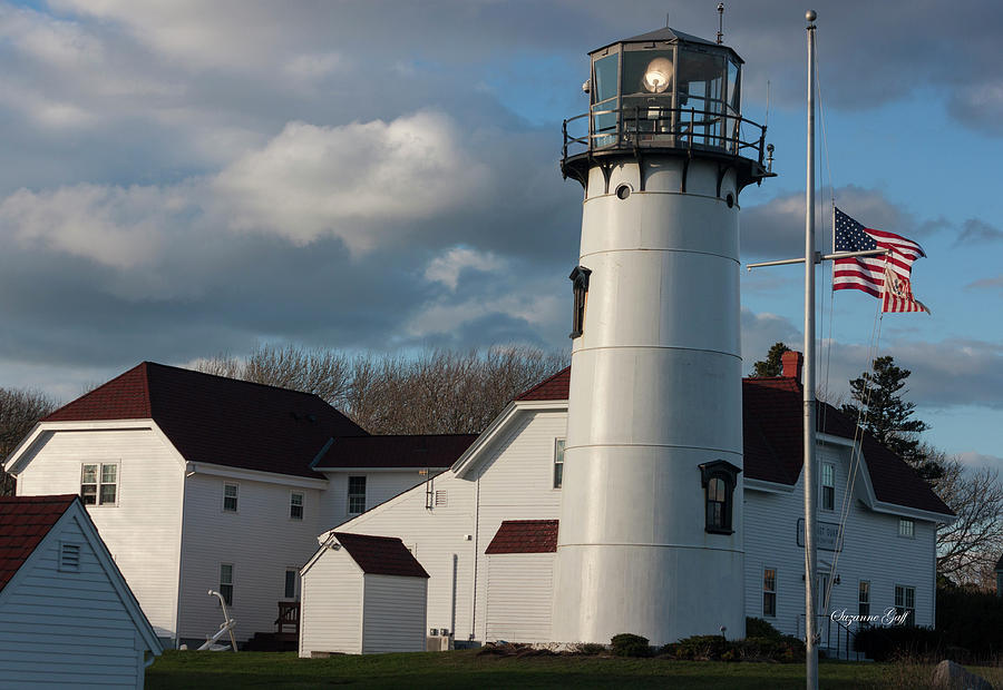Chatham Coast Guard Lighthouse Along the Cape by Suzanne Gaff