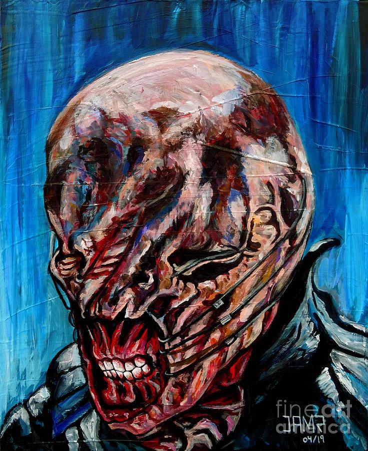 Hellraiser Painting - Chatterer Hellraiser by Jose Mendez
