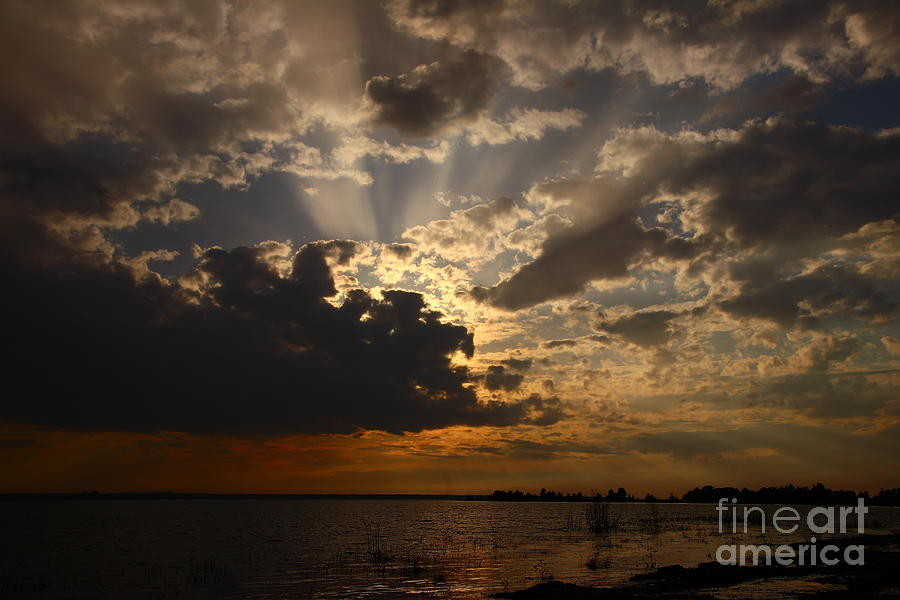 Sunset Photograph - Cheboygan Lakeside Sunset by Tony Lee