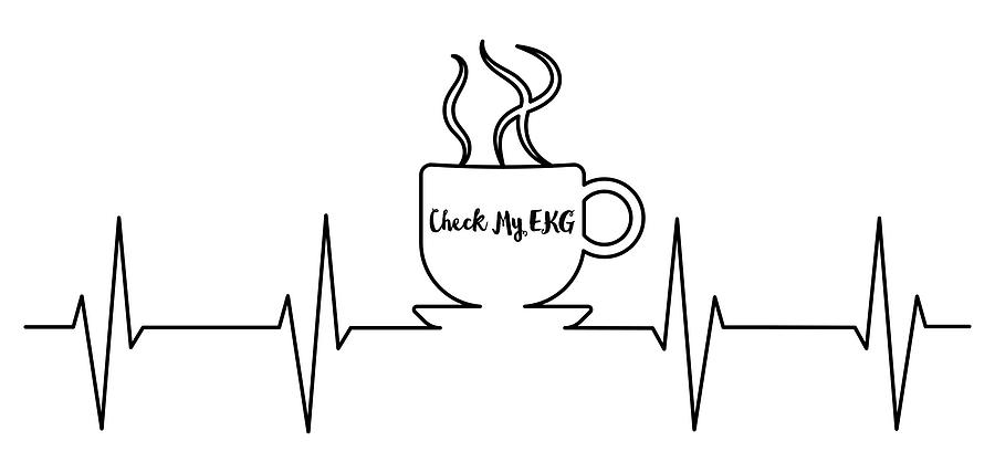 Check My EKG Coffee Art by Ericamaxine Price