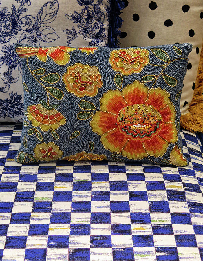Checkerboard Photograph - Checkerboard And Pillow by Dave Mills