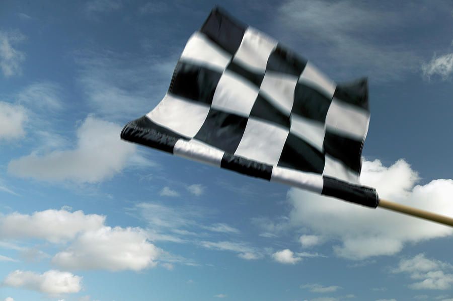 Checkered Flag Photograph by James W. Porter