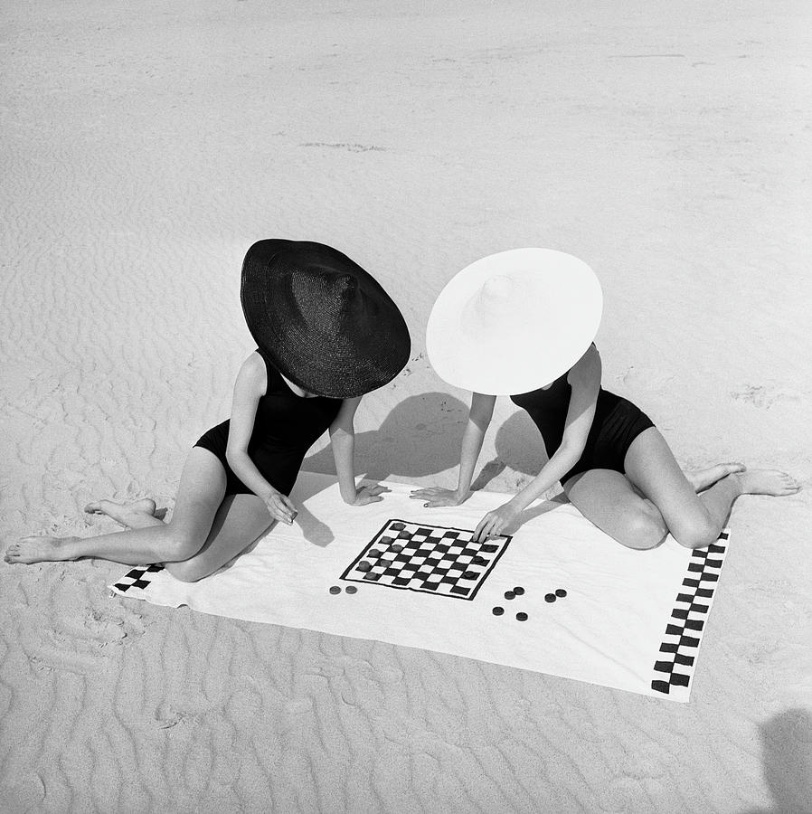 Checkers On The Beach Photograph by Jack Robinson