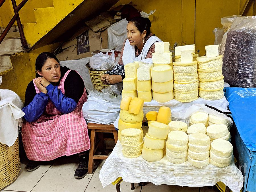 Cheese Vendors in Ollantaytambo by Julie Pacheco-Toye