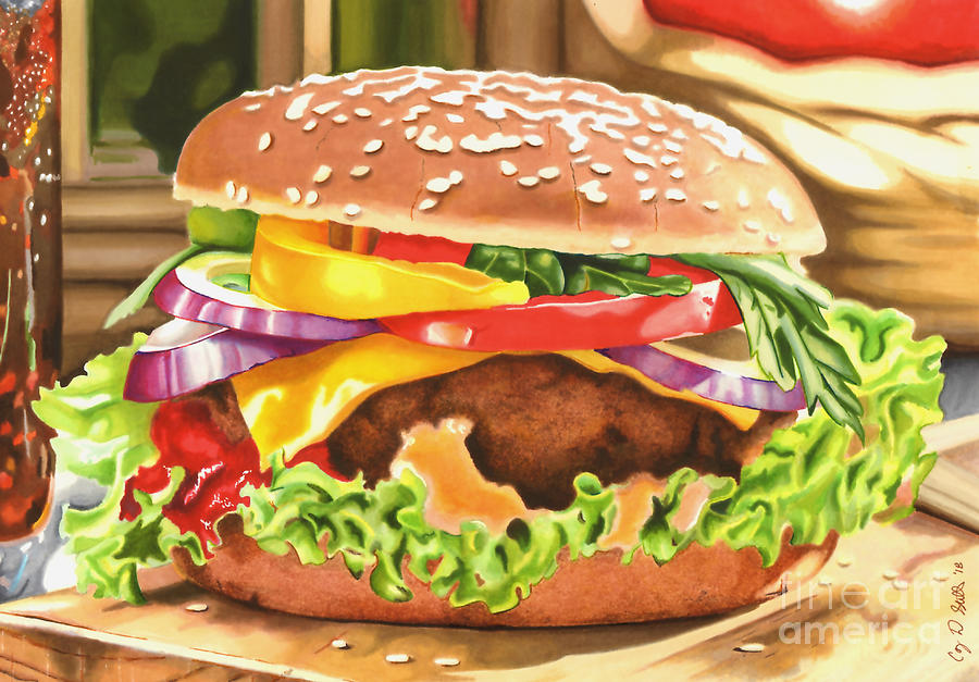 Cheeseburger in Paradise by Cory Still