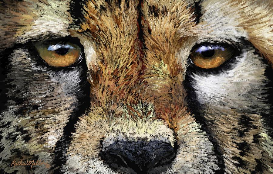Cheetah Portrait by Kathie Miller