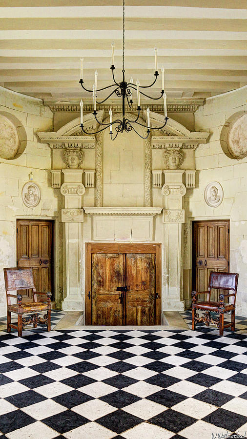 Chateau De Chenonceau Photograph - Chenonceau Ball Room Vertical by Weston Westmoreland