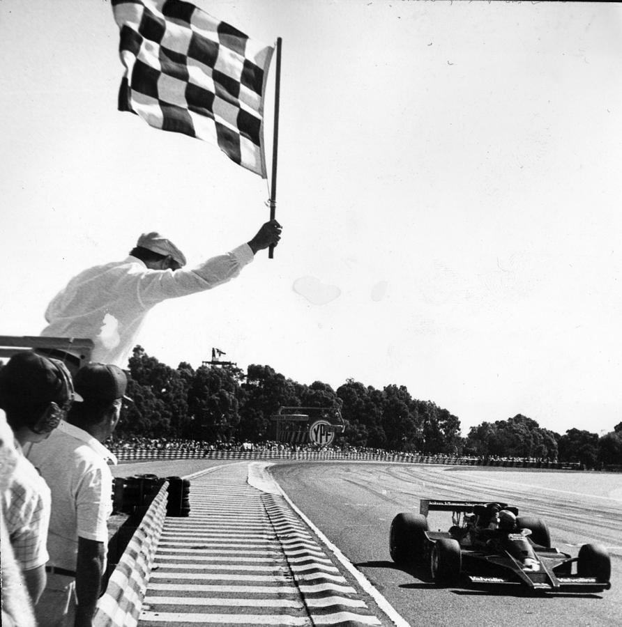Chequered Flag Photograph by Keystone