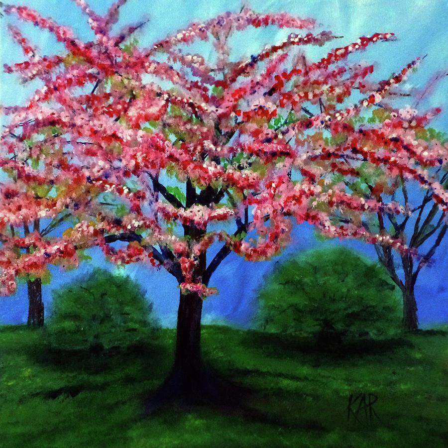 Cherry Blossom Tree Painting - Cherry Blossom by Art by Kar