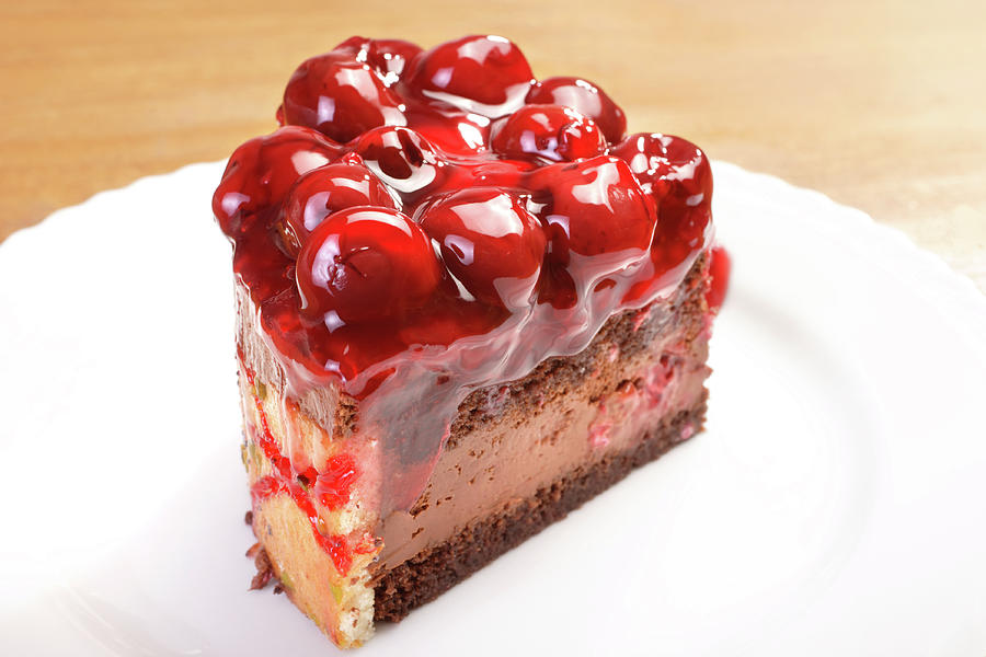 Cherry Cake Photograph by Imagedepotpro