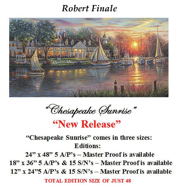 Chesapeake Bay Mixed Media - Chesapeake Sunrise by Robert Finale