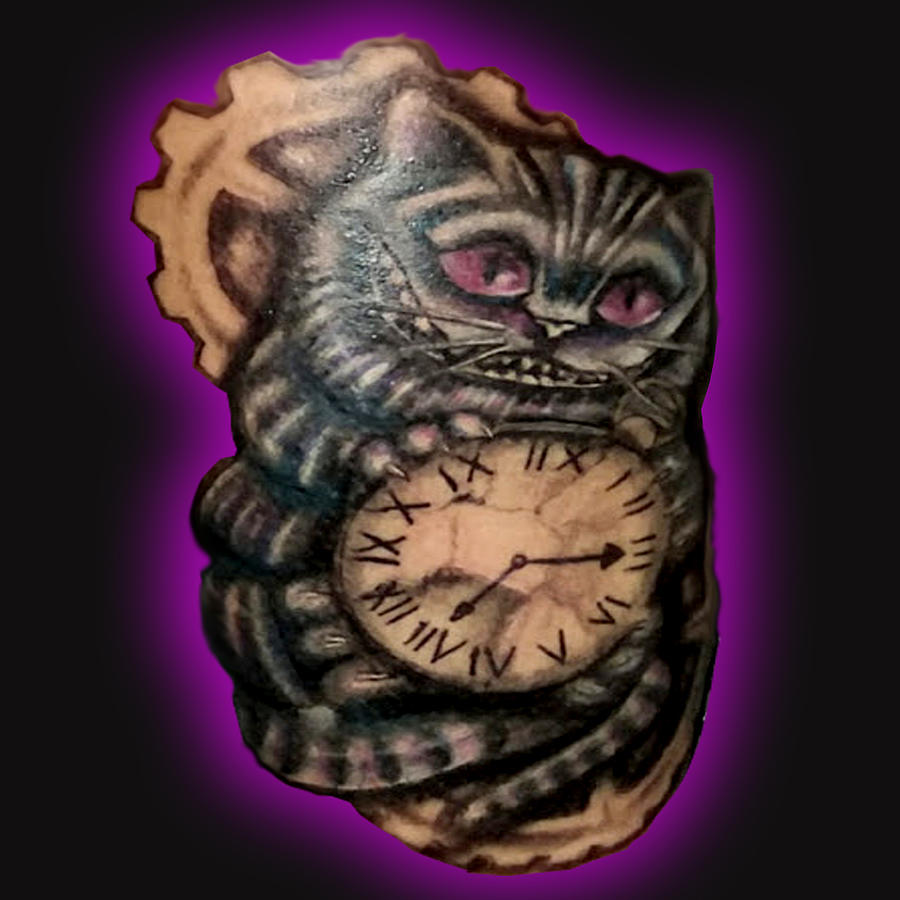 Cheshire Cat Tattoo by Leigh Odom