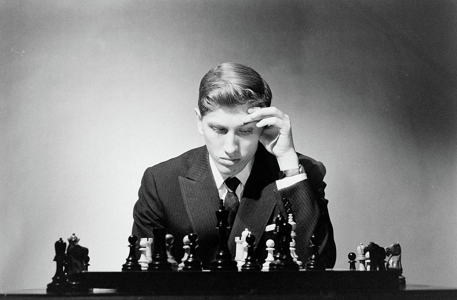 Chess Champion Robert J. Fisher Playing Photograph by Carl Mydans