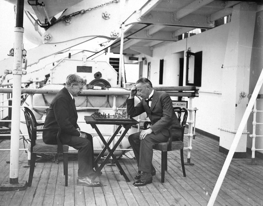 Chess On Board Photograph by W. G. Phillips