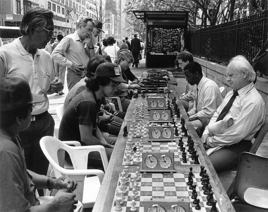Chess Players On 42nd Street Photograph by The New York Historical Society