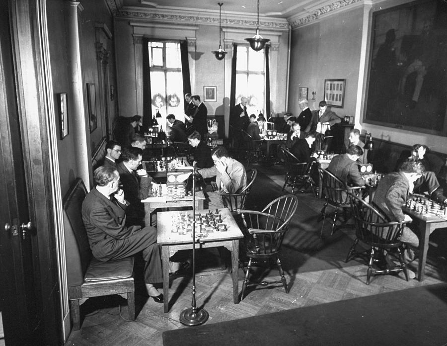 Chess Tournament Photograph by Hansel Mieth