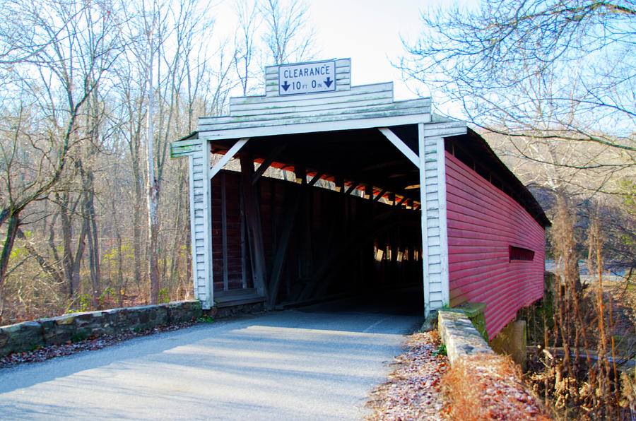 Chester Photograph - Chester County Pennsylv Ania - Sheeder Hall Covered Bridge by Bill Cannon