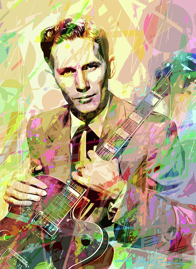 Chet Atkins Country Gentleman by David Lloyd Glover