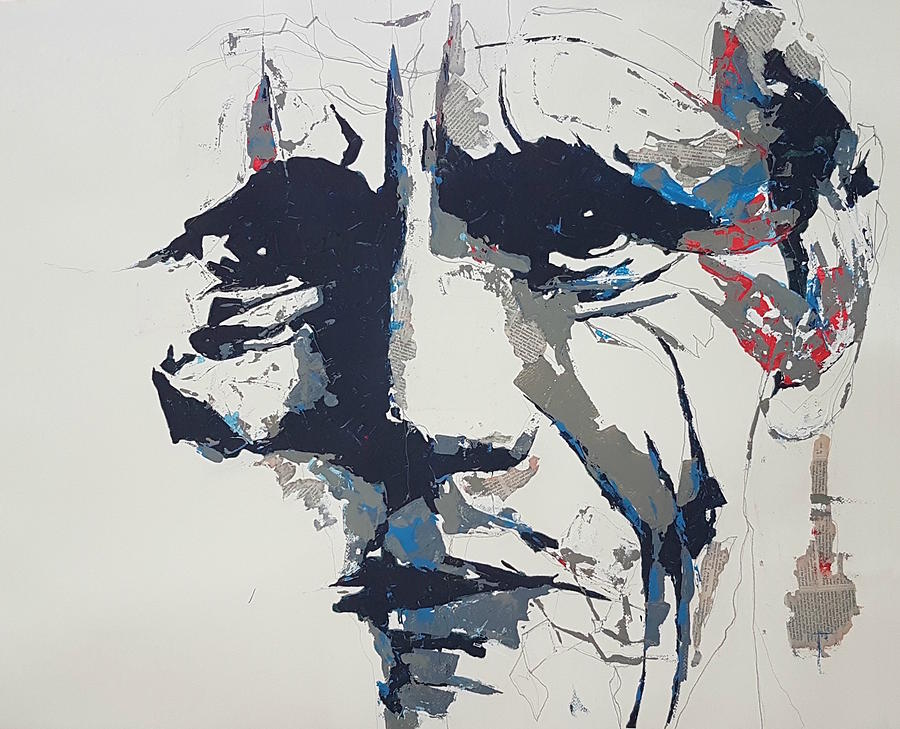 Chet Baker - Abstract  by Paul Lovering