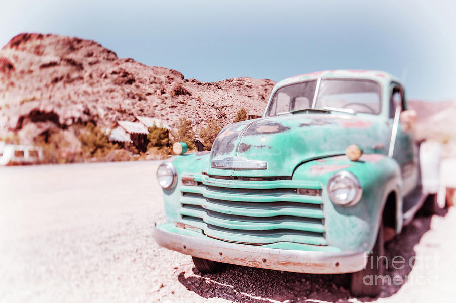 Nelson Photograph - Chevy Truck Dreamland Tilt-shift by Edward Fielding