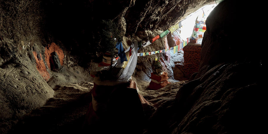 Horizontal Photograph - Chhungsi Cave From The Inside, Mustang by Panoramic Images