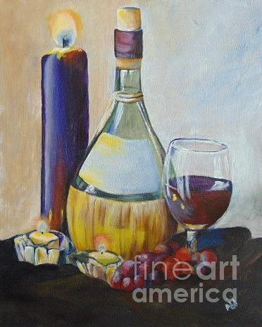 Wine Painting - Chianti by Saundra Johnson