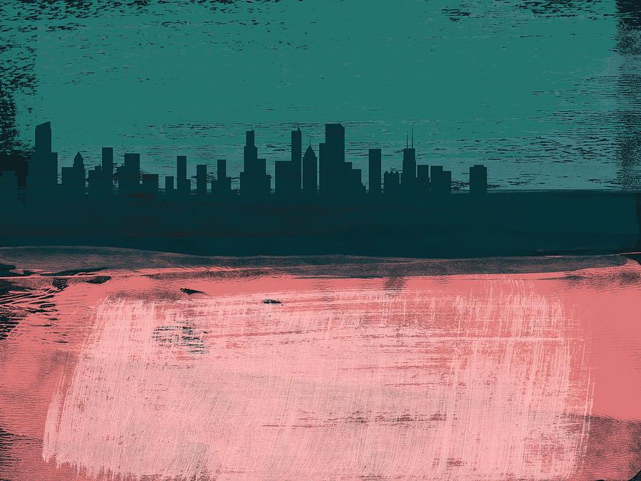 Chicago Mixed Media - Chicago Abstract Skyline II by Naxart Studio