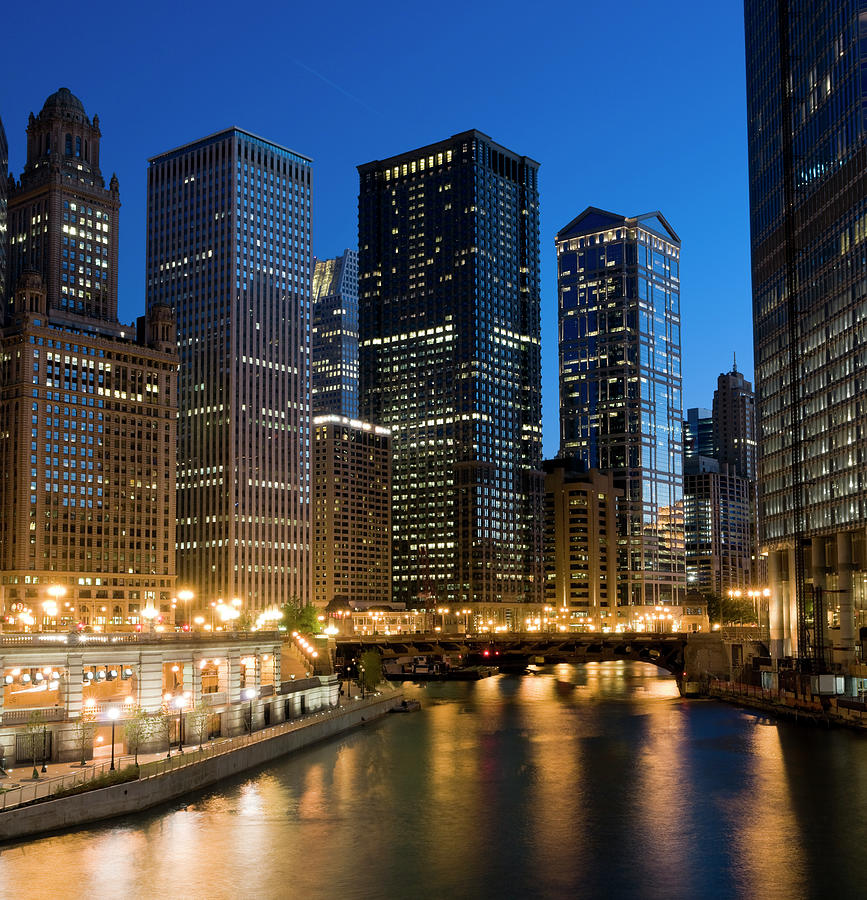 Chicago At Dusk Photograph by Chris Pritchard