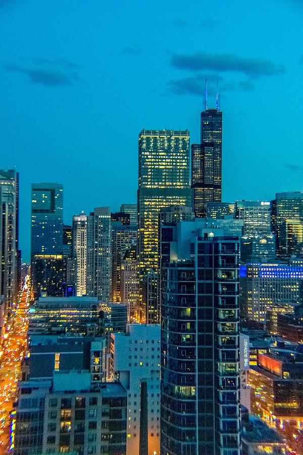 Chicago at Night by Bobby King