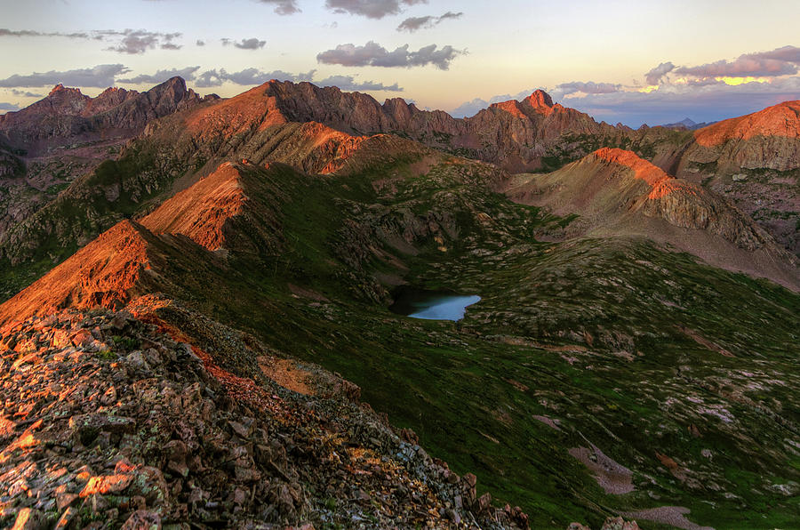 Scenic Photograph - Chicago Basin Sunset by Photo By Matt Payne Of Durango, Colorado