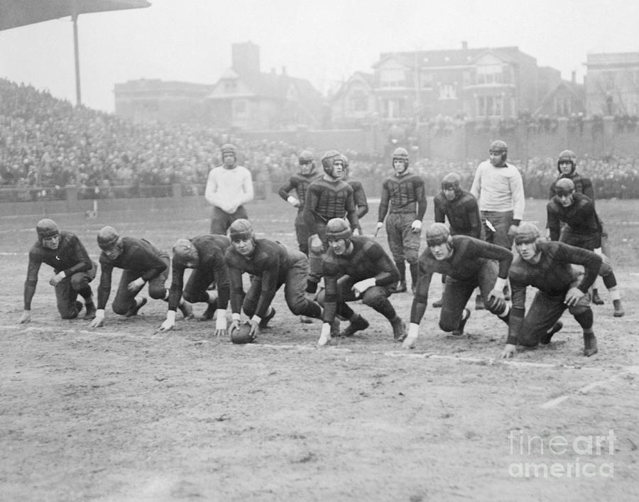 Chicago Bears At The Start Of A Game Photograph by Bettmann