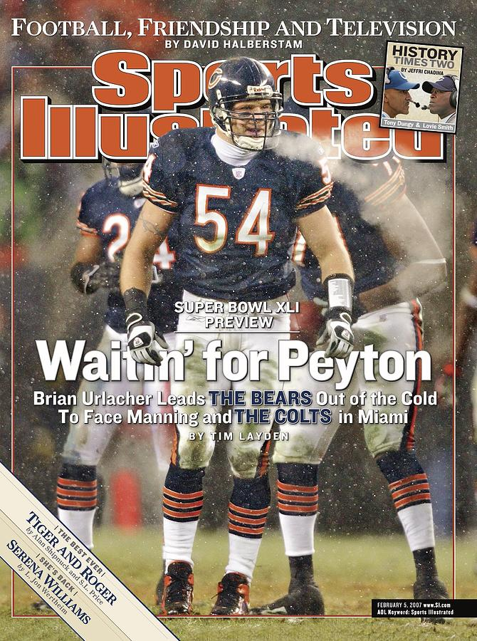 Chicago Bears Brian Urlacher, 2007 Nfc Championship Sports Illustrated Cover Photograph by Sports Illustrated