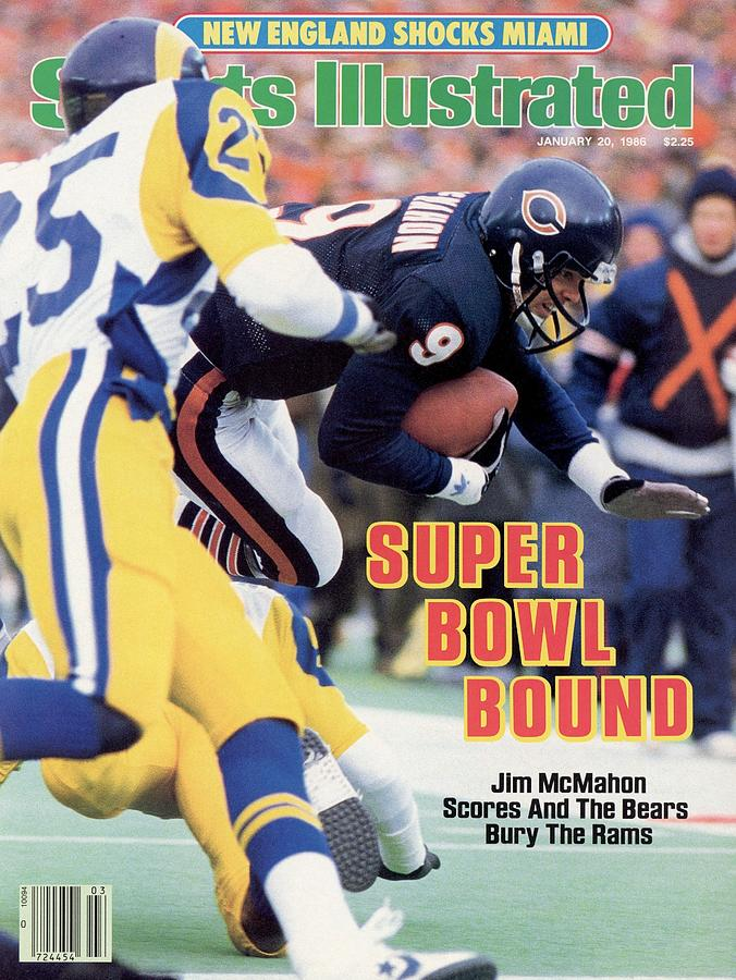 Chicago Bears Qb Jim Mcmahon, 1986 Nfc Championship Sports Illustrated Cover Photograph by Sports Illustrated