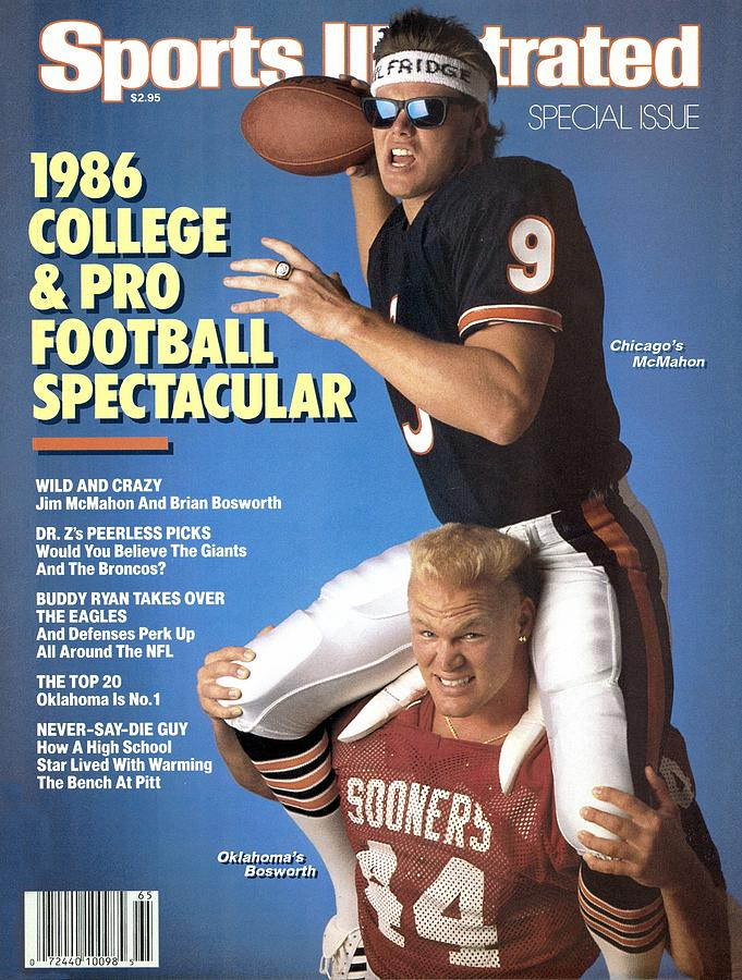 Chicago Bears Qb Jim Mcmahon And Oklahoma University Brian Sports Illustrated Cover Photograph by Sports Illustrated