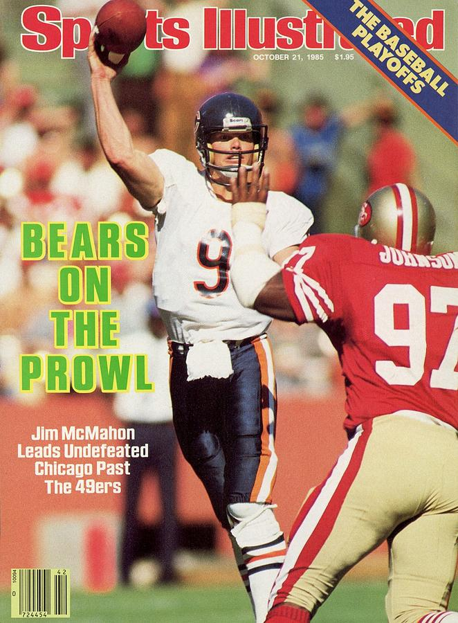 Chicago Bears Qb Jim Mcmahon... Sports Illustrated Cover Photograph by Sports Illustrated