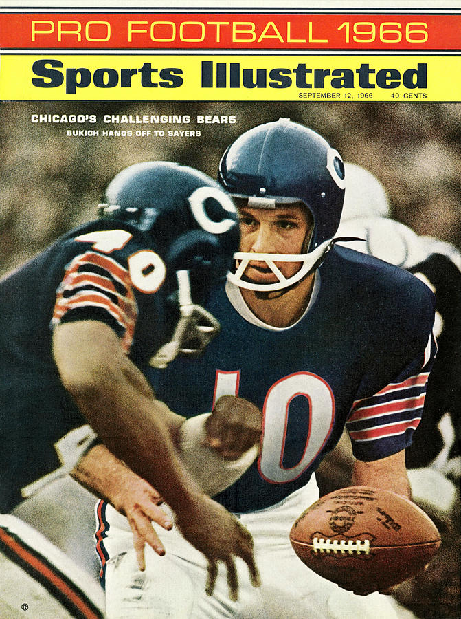 Chicago Bears Qb Rudy Bukich, 1966 Nfl Football Preview Sports Illustrated Cover Photograph by Sports Illustrated