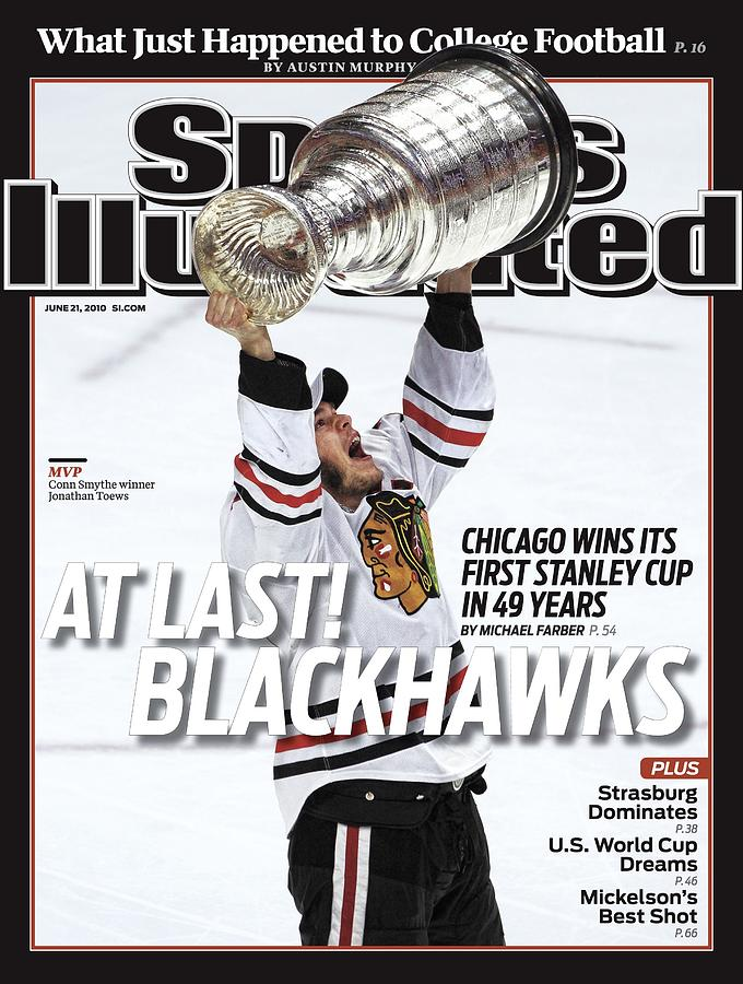 Chicago Blackhawks Jonathan Toews, 2010 Nhl Stanley Cup Sports Illustrated Cover Photograph by Sports Illustrated