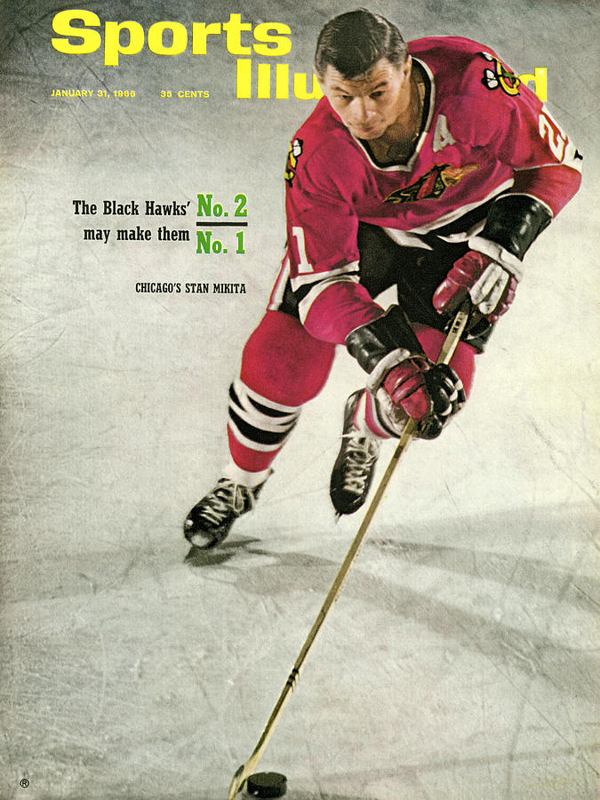 Chicago Blackhawks Stan Mikita... Sports Illustrated Cover Photograph by Sports Illustrated