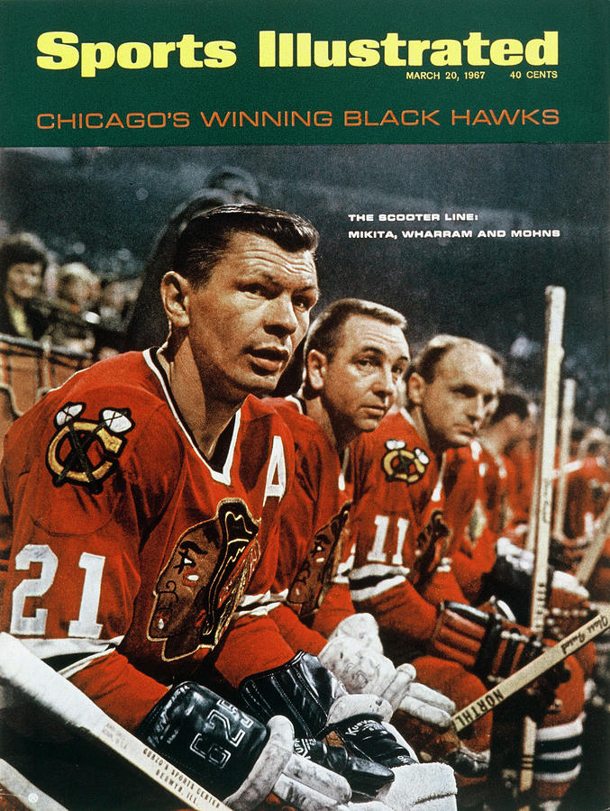 Chicago Blackhawks Stan Mikita, Kenny Wharram, And Doug Sports Illustrated Cover Photograph by Sports Illustrated