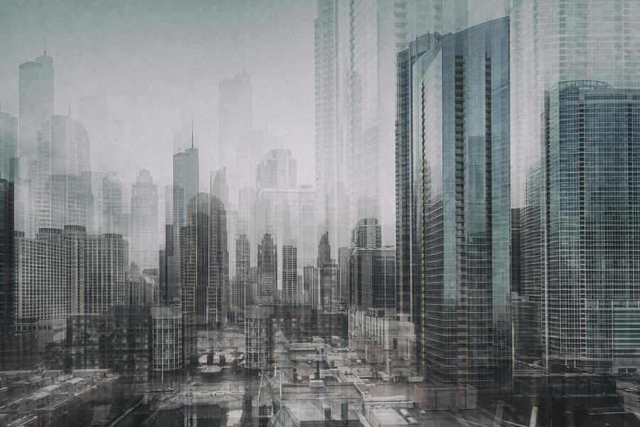 Chicago Photograph - Chicago Blue by Roswitha Schleicher-schwarz