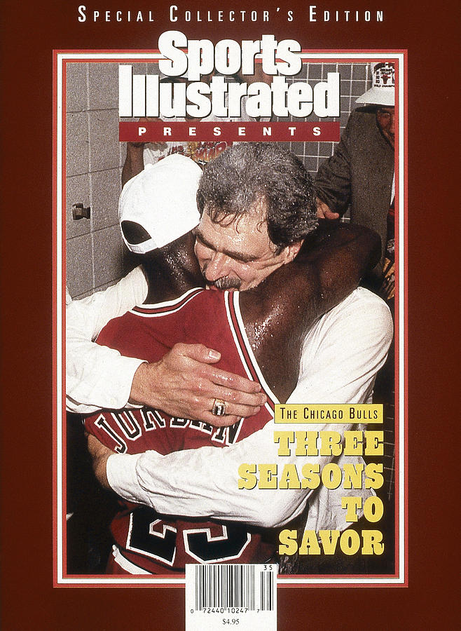 Chicago Bulls Coach Phil Jackson And Michael Jordan, 1993 Sports Illustrated Cover Photograph by Sports Illustrated