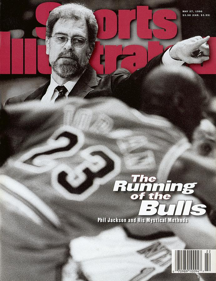 Chicago Bulls Coach Phil Jackson Sports Illustrated Cover Photograph by Sports Illustrated