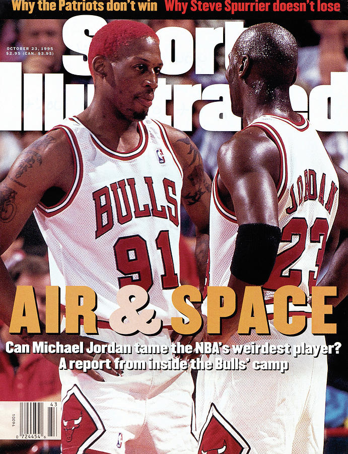 Chicago Bulls Dennis Rodman And Michael Jordan Sports Illustrated Cover Photograph by Sports Illustrated
