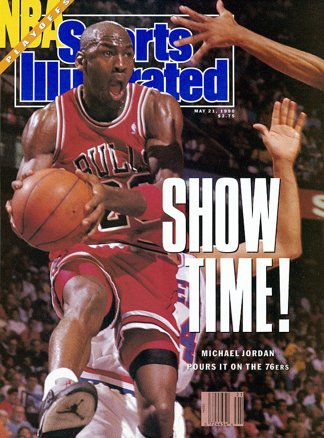 Chicago Bulls Michael Jordan, 1990 Nba Eastern Conference Sports Illustrated Cover Photograph by Sports Illustrated