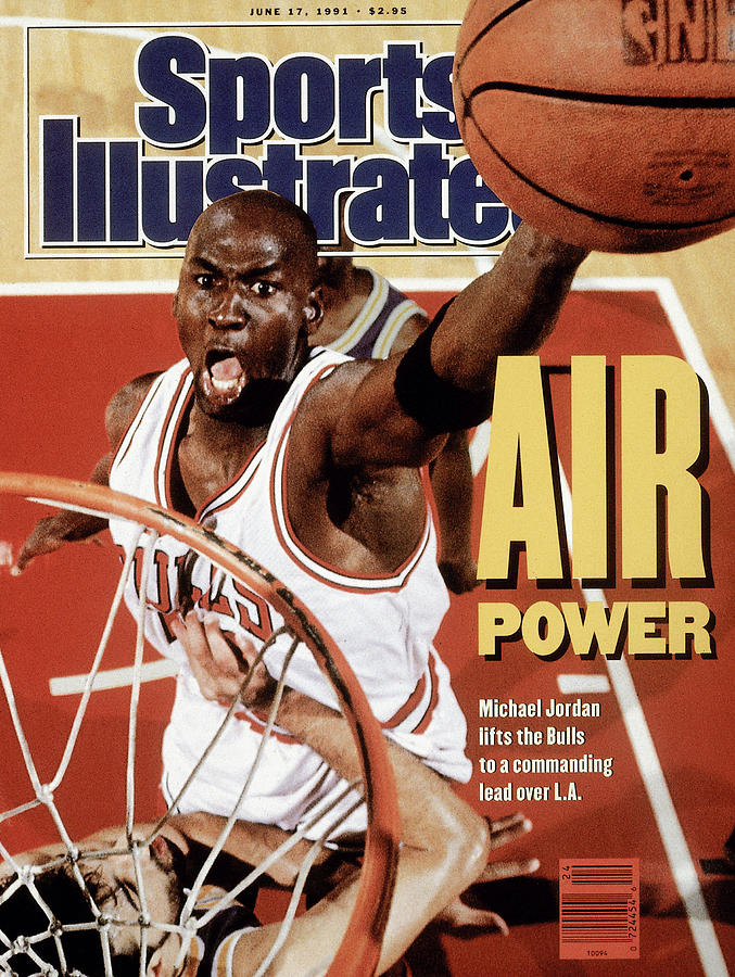 Chicago Bulls Michael Jordan, 1991 Nba Finals Sports Illustrated Cover Photograph by Sports Illustrated