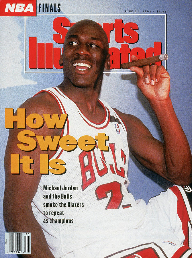 Chicago Bulls Michael Jordan, 1992 Nba Finals Sports Illustrated Cover Photograph by Sports Illustrated