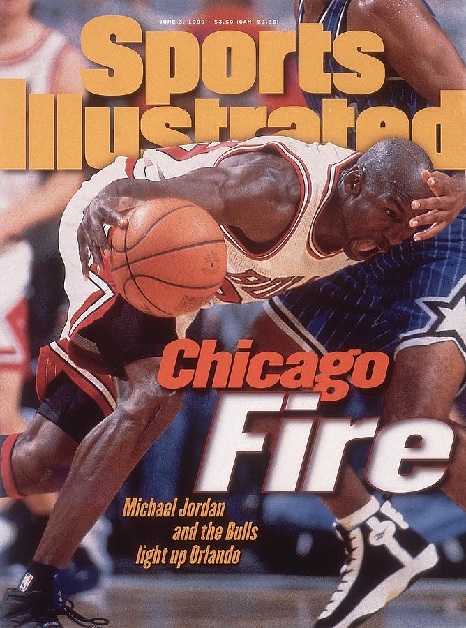 Chicago Bulls Michael Jordan, 1996 Nba Eastern Conference Sports Illustrated Cover Photograph by Sports Illustrated